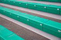 Grandstand green in the stadium Royalty Free Stock Photo