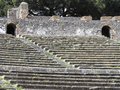 Grandstand of roman theatre Stock Photography
