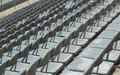 Grandstand seating rows of spectator Royalty Free Stock Image