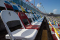 Grandstand seats in daytona speedway florida usa Stock Photo