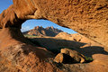 Granite arch, Namibia Stock Photo