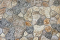 Granite background debris shivers stones in wall Stock Photography