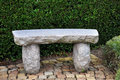 Granite bench Stock Image