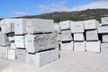 Granite blocks extracted from a quarry in portugal Royalty Free Stock Images