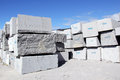 Granite blocks extracted from a quarry in portugal Royalty Free Stock Photos