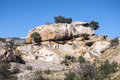 Granite boulders in hueco de san blas la pedriza spain it is a mountain where geological forces have create a remarkable Royalty Free Stock Photo