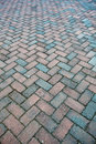 Granite brick road in a perspective view Royalty Free Stock Photo