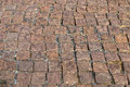 Granite cobble stoned pavement for background Stock Image