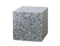 Granite cube isolated on white background Royalty Free Stock Images