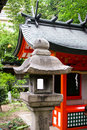 Granite lantern Stock Photo