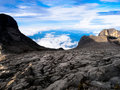 Granite mountain landscape - Mount Kinabalu Royalty Free Stock Photos