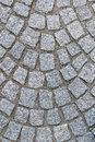 Granite pavement road cubic shape Stock Photos