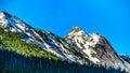 The Granite Peak of Yak Mountain in the Cascade Mountain Range Royalty Free Stock Photo
