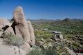 Granite rocks on Pinnacle Peak trail over Happy Valley Royalty Free Stock Photo