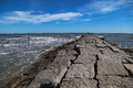 Granite seaside pier Royalty Free Stock Photo