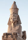 Granite sphinx ancient monument Royalty Free Stock Image