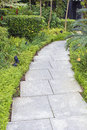 Granite Stone Garden Path Stock Photo