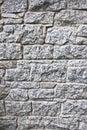 Granite stone wall blocks of bricks background Royalty Free Stock Photo