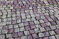 Granite stones square on the pavement Stock Photography