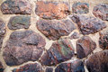 Granite wall the of the fractured boulders Royalty Free Stock Image