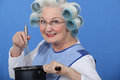 Granny cooking Royalty Free Stock Image