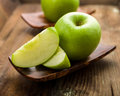 Granny smith apple on a background Stock Photo