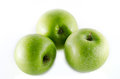 Granny smith apples isolated on white background Royalty Free Stock Photo