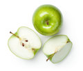 Granny Smith Apples on White Royalty Free Stock Photo