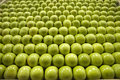Granny smith green apples on display Stock Photos