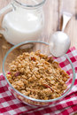 Granola in bowl Royalty Free Stock Photo