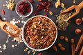 granola and cereal, dry fruit Royalty Free Stock Photo