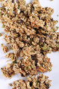 Granola on white background vertical Royalty Free Stock Photo