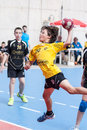 Granollers cup player shooting the ball a a on tournament played on days of june on barcelona Royalty Free Stock Photos