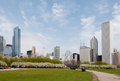 Grant park in chicago in the spring Stock Photography