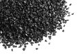 Granular activated carbon for water filter on white background Stock Photography