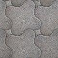 Granular pavement seamless tileable texture grey decorative Stock Photo