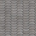 Granular paving slabs seamless tileable texture decorative gray Royalty Free Stock Photo