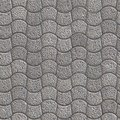 Granular paving slabs seamless tileable texture gray pavement curved trapezoid Stock Images
