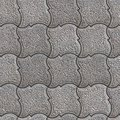 Granular paving slabs seamless tileable texture gray pavement of figured squares Stock Photo