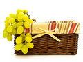 Grape in basket Royalty Free Stock Images