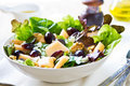 Grape and cantaloupe salad with feta walnut Stock Images