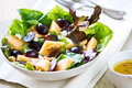 Grape and cantaloupe salad with feta walnut Stock Photography