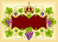 Grape frame with crown Royalty Free Stock Images