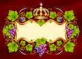 Grape frame with crown Stock Photos