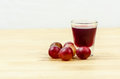 Grape and grape juice for healthy drinking Stock Photography