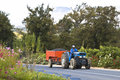 Grape harvest in south africa convey of the grapes with farm tractor Stock Photos