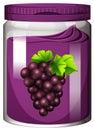 Grape jam in the jar