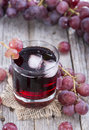 Grape Juice with Ice Royalty Free Stock Photo
