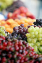 Grape on mediterranean market grapes place focus croatia Stock Photos