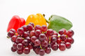 Grape with peper Stock Photo